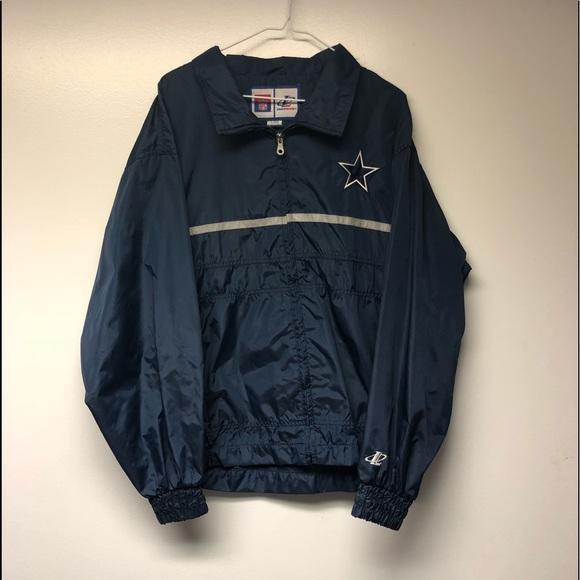 uk availability 84b98 fede6 Vintage Dallas Cowboys Windbreaker